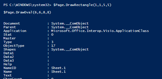 PowerShell and Visio Part 3 - Drawing Shapes - PowerShell